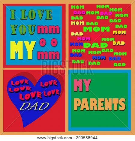some words and sentences about love for both parents