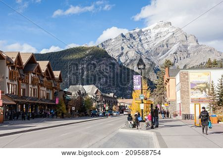 Banff Townsite In The Canadian Rockies, Canada