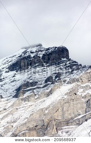 Summit Of Cascade Mountain In Banff, Canada