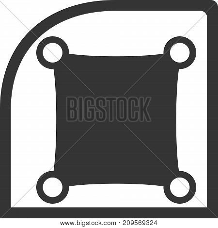 Window Shade Creative Vector Icon Shape. Use for Baby On Board or Sunshade Logo and Icons. Protect passengers from sun rays