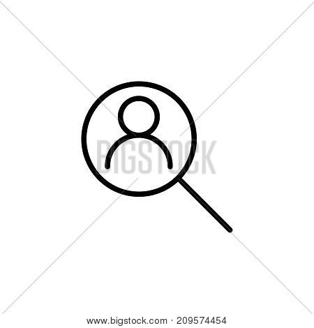 Modern research line icon. Premium pictogram isolated on a white background. Vector illustration. Stroke high quality symbol. Research icon in modern line style.