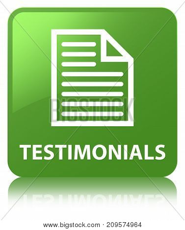 Testimonials (page Icon) Soft Green Square Button