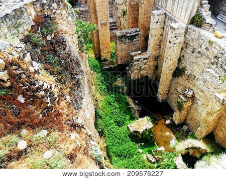 Traveling to Israel Jerusalem The Ruins of the Byzantine Church adjacent to the site of the Pool of Bethesda