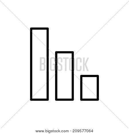 Modern bar chart line icon. Premium pictogram isolated on a white background. Vector illustration. Stroke high quality symbol. Bar chart icon in modern line style.