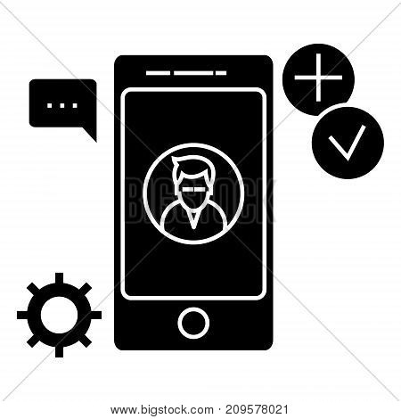 app development  icon, vector illustration, black sign on isolated background
