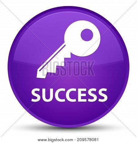 Success (key Icon) Special Purple Round Button