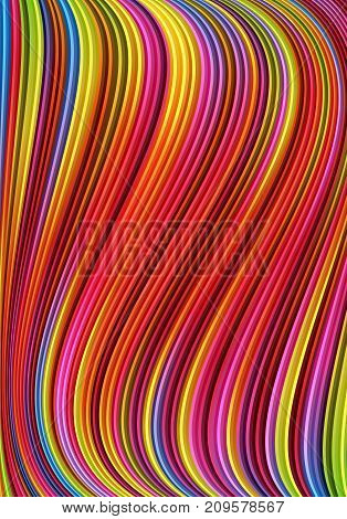 Abstract background with colorful wave.Vector illustration in vibrant colors.