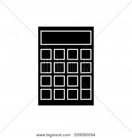 calculator  icon, vector illustration, black sign on isolated background