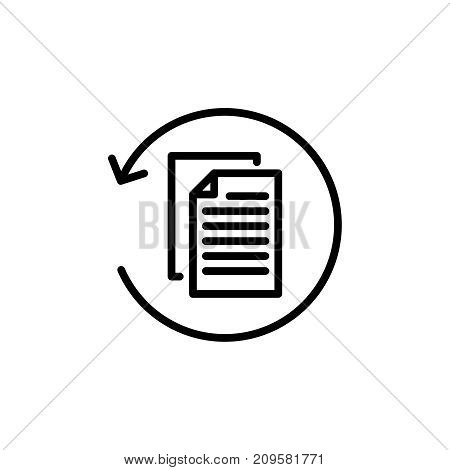 Modern report line icon. Premium pictogram isolated on a white background. Vector illustration. Stroke high quality symbol. Report icon in modern line style.
