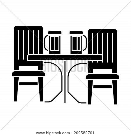 dinner room  icon, vector illustration, black sign on isolated background