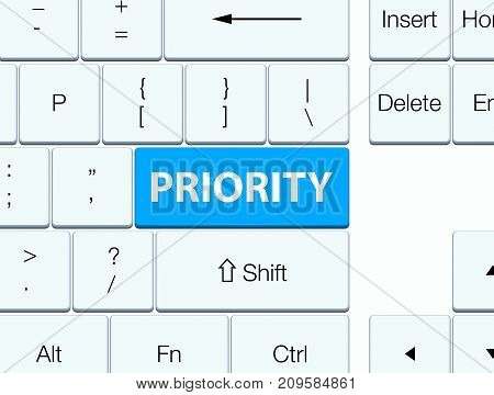 Priority Cyan Blue Keyboard Button