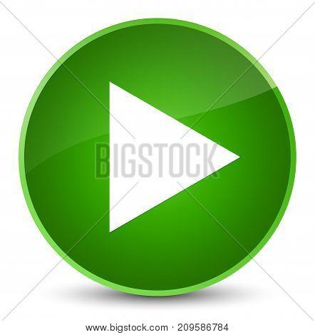 Play Icon Elegant Green Round Button