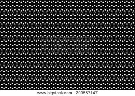 Circle - geometric abstract vector pattern - black and white , Round - geometric abstract background