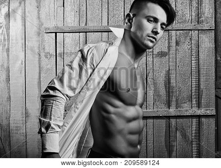 Fashionable Young Sexy Man