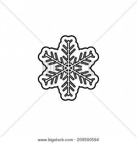 Vector illustration of a Christmas snow flake. Christmas and New Year theme.