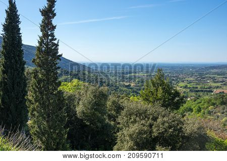 Panoramic view of rural France in Provence