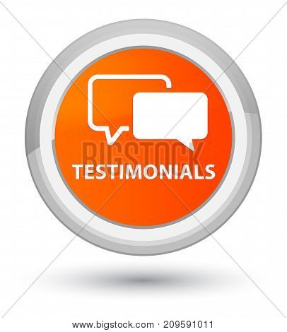 Testimonials Prime Orange Round Button