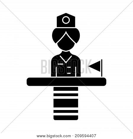 recepcionist  icon, vector illustration, black sign on isolated background