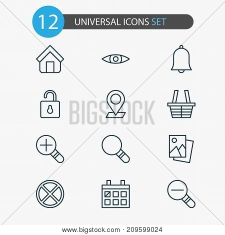 Network Icons Set. Collection Of Estate, Increase Loup, Exit And Other Elements
