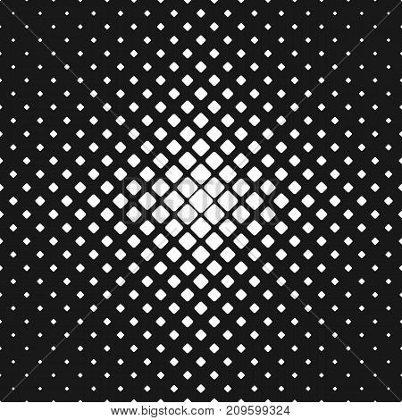 Abstract geometric black and white rounded square pattern background - vector illustration with diagonal squares in varying sizes