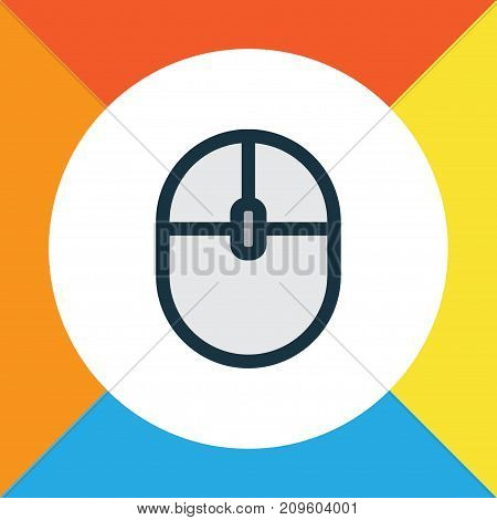 Premium Quality Isolated Control Device Element In Trendy Style.  Computer Mouse Colorful Outline Symbol.