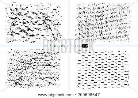 Grunge texture set. Hand drawn backgrounds. Vector templates. Spot of textures. Wax crayon hand drawn backgrounds.