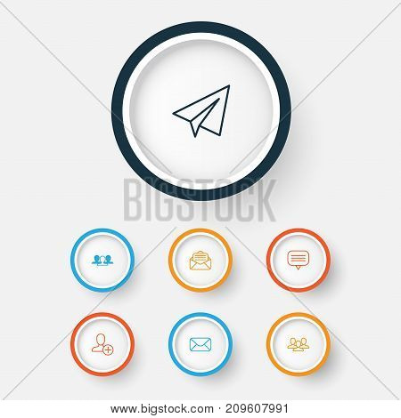 Social Icons Set. Collection Of Group, Read Message, Startup And Other Elements