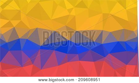 Colombia geometric triangle low poly design style flag