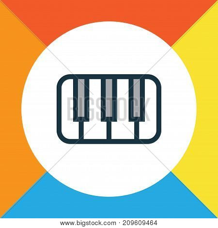 Premium Quality Isolated Keys Element In Trendy Style.  Piano Colorful Outline Symbol.