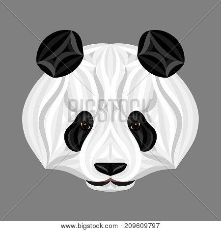 Panda Bear, Picture Of Panda Head, Panda Face Illustration