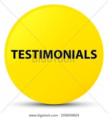 Testimonials Yellow Round Button