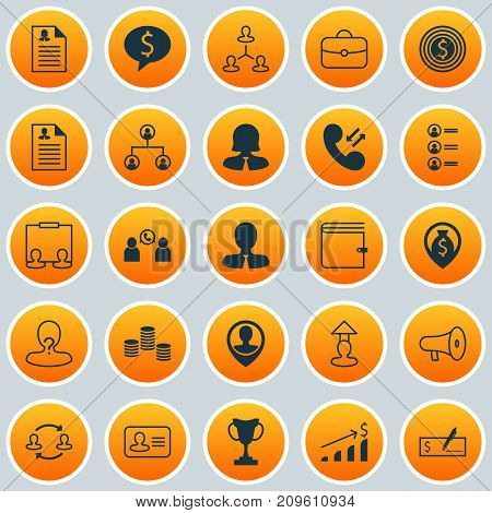Management Icons Set. Collection Of Team Structure, Anonymous, Presentation And Other Elements