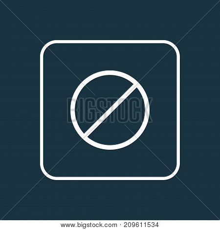 Premium Quality Isolated Ban Element In Trendy Style.  Forbidden Outline Symbol.