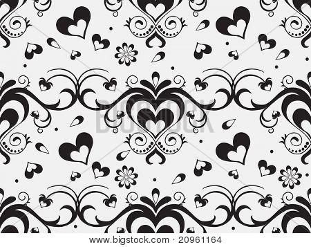 romantic pattern background, vector illustration
