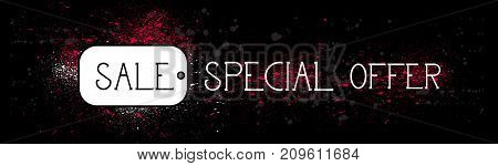 Special Offer Sale Horizontal Banner Seasonal Shopping Discount And Promotion Concept Vector Illustration