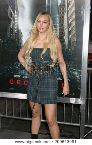 LOS ANGELES - OCT 16:  Corinne Olympios at the Geostorm Premiere at the TCL Chinese Theater IMAX on October 16, 2017 in Los Angeles, CA
