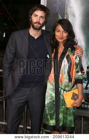 LOS ANGELES - OCT 16:  Jim Sturgess, Dina Mousawi at the Geostorm Premiere at the TCL Chinese Theater IMAX on October 16, 2017 in Los Angeles, CA