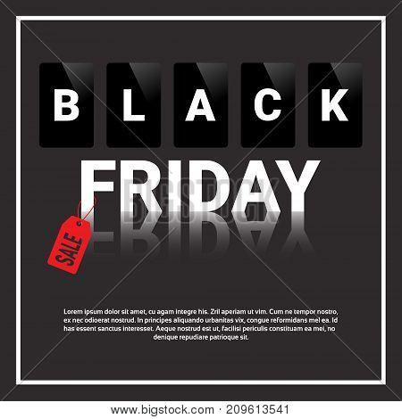 Black Friday Sale, Special Offer Banner With Copy Space Big Shopping Discount Concept Vector Illustration