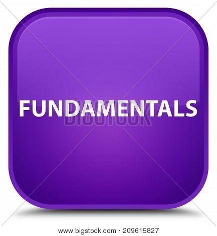 Fundamentals Special Purple Square Button