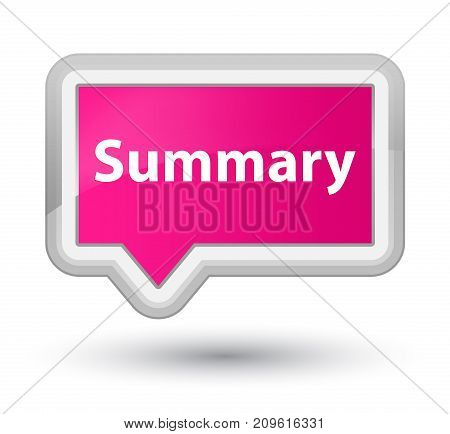 Summary Prime Pink Banner Button
