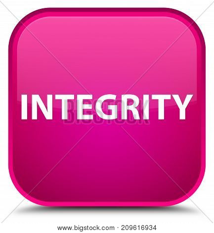 Integrity Special Pink Square Button