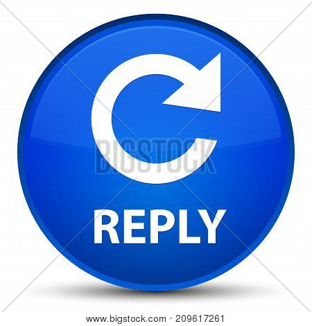 Reply (rotate Arrow Icon) Special Blue Round Button