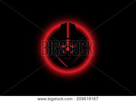 Logo hacker secret, vector isolated or black background