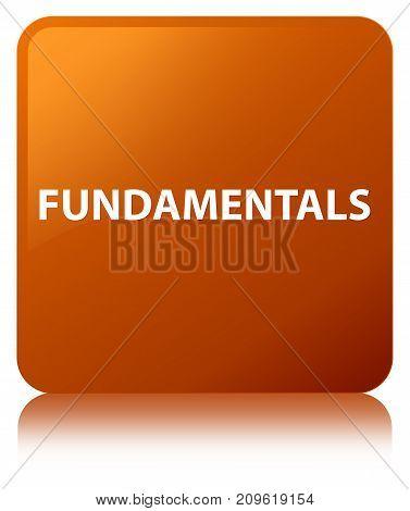 Fundamentals Brown Square Button