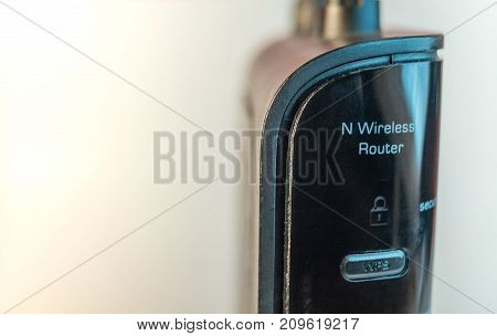 Wireless Internet Router Modem front view close up
