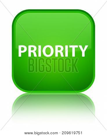 Priority Special Green Square Button