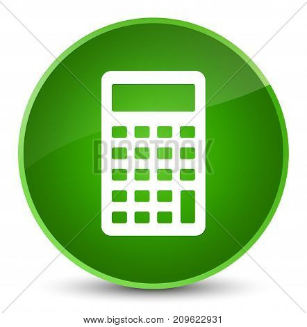 Calculator Icon Elegant Green Round Button