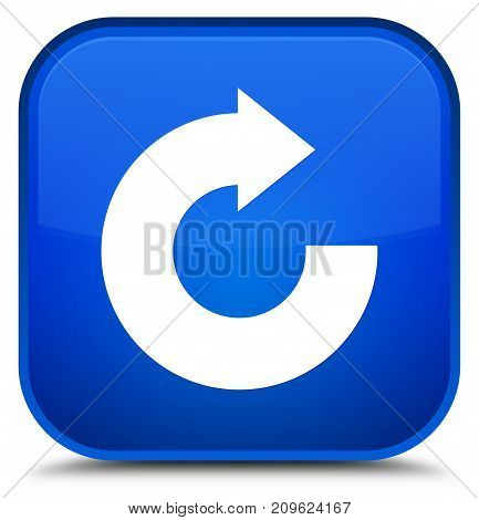 Reply Arrow Icon Special Blue Square Button