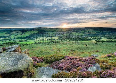 Baslow Edge In The Peak District