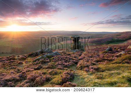 Stunning Sunset Over Derwent Edge